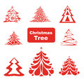 Vector Collection of Christmas Trees Stock Photo