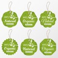 Vector set of retro organic cardboard labels and tags for design Royalty Free Stock Photo