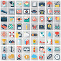 Vector collection of colorful flat business and finance icons.
