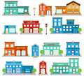 Vector Collection of Cute Fire Station Buildings, Hospitals and Clinics, and Police Stations.