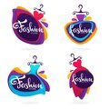 Vector collection of fashion boutique and store logo, label, emb