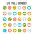 Vector collection of flat and colorful web icons on SEO, business, shopping and technology theme.
