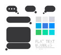 Vector collection of flat text balloons. Royalty Free Stock Photo