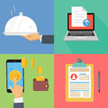 Vector collection icons business and finance concept
