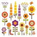 De flores en otoño color