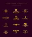 Vector collection of jewellery and diamond logos. Royalty Free Stock Photo
