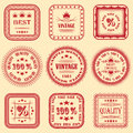 Vector collection of labels Royalty Free Stock Photo