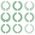 Vector collection laurel wreaths on white background Royalty Free Stock Image