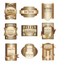 Vector collection of luxury golden labels Stock Photo