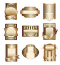 Vector collection of luxury golden labels Stock Images