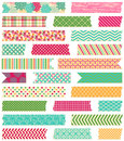 Vector Collection of Patterned Washi Tape Strips