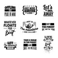 Vector collection of quote typographical background