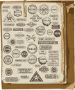 Vector collection of rubber stamps Stock Images