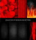 Vector collection set of patterns texture