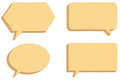Vector collection speech bubbles consisting waffles Stock Photos