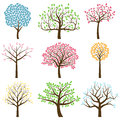 Vector Collection of Tree Silhouettes Royalty Free Stock Photo