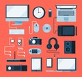 stock image of  Vector collection of various electronic devices
