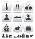 Vector collection web icon. Set wedding gift Royalty Free Stock Image