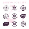 Vector collection of wine badges.