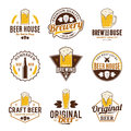 Vector color beer logo, icons and design elements Royalty Free Stock Photo