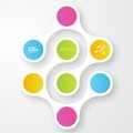 Vector color circles infographic color molecule and Royalty Free Stock Image