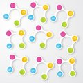 Vector color circles infographic color molecule and Royalty Free Stock Photos