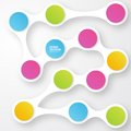 Vector color circles infographic color molecule and Royalty Free Stock Images