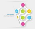 Vector color circles infographic color molecule and Royalty Free Stock Photo