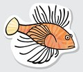 Vector color fish for your design. Stock Photography