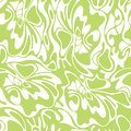 Vector color seamless swirl olive background. Green abstract flo Royalty Free Stock Photo