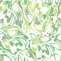 Vector color seamless swirl olive grass background. Green abstract floral texture. Royalty Free Stock Photo