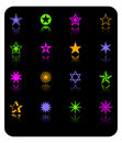 Vector color stars icon set Stock Photo