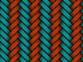 Vector colored braided fiber seamless pattern