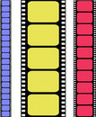 Vector colored filmstrip Royalty Free Stock Images