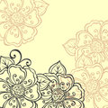 Vector Colored Floral Layout. Stock Image