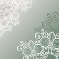 Vector Colored Floral Layout. Royalty Free Stock Images