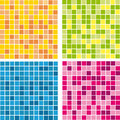 Vector colored pattern wall mosaics