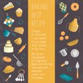 Vector colored set of elements for baking
