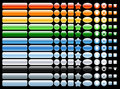 Vector  Colored and shiny web buttons Stock Photo