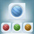 Vector colorful buttons set of Stock Photo