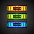 Vector colorful buttons set of Royalty Free Stock Photography