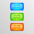 Vector colorful buttons set of Royalty Free Stock Photo
