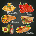 Vector colorful card about Mexico. Mexican cuisine. Fast food.