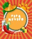 Vektor farbistý karta o mexiko