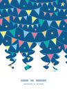Vector colorful doodle bunting flags christmas tree silhouette pattern frame card template graphic design Royalty Free Stock Photos