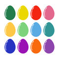 Vector colorful Easter eggs for Easter holidays design. Isolated on white background.