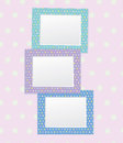 Vector colorful empty photo frames. Stock Image