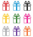 Vector colorful gift box symbols Stock Photo