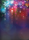 Vector colorful lights background. Royalty Free Stock Photo