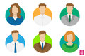 Vector colorful men and women rectangle avatars